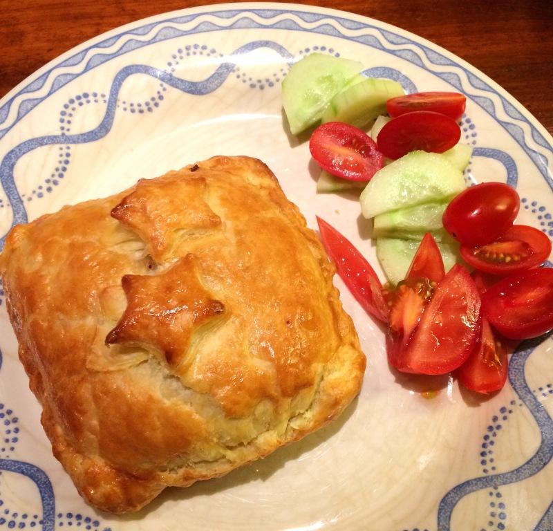 Recept: bladerdeeg met vegetarische vulling